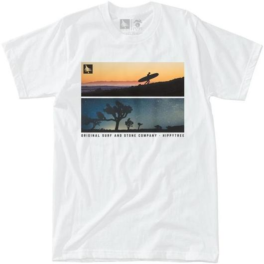HIPPY TREE BACKLIT TEE WHITE