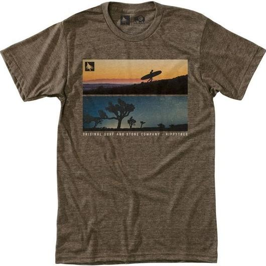 HIPPY TREE BACKLIT TEE HEATHER BROWN