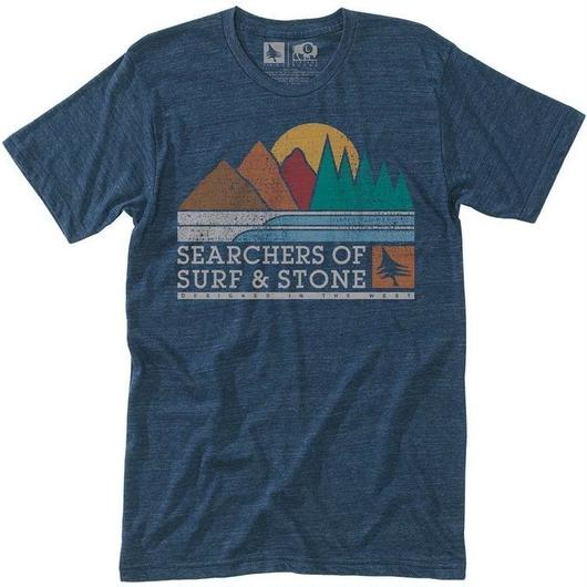 HIPPY TREE EXPEDITION TEE HEATHER NAVY