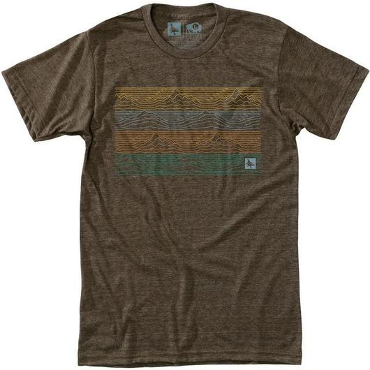 HIPPY TREE GRADIENT TEE HEATHER BROWN