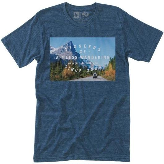 HIPPY TREE HIGHWAY TEE HEATHER NAVY