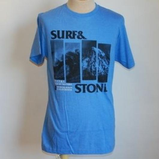 HIPPY TREE FLAG TEE HEATHER BLUE