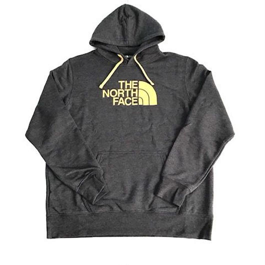 THE NORTH FACE HALF DOME hoodie チャコール×イエロー XL