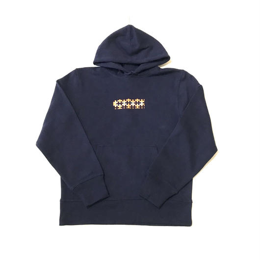 【ラス1】PUZZLE ORANGE BOX 12.7o.z sweat hoodie ネイビー M