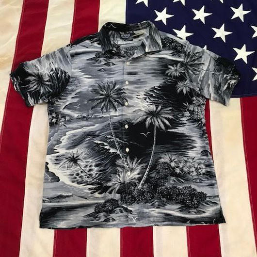 【USED】POLO RALPH LAUREN ALOHA shirt グレー L