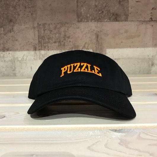 PUZZLE SMALL ARCH adjuster cap ブラック×オレンジ
