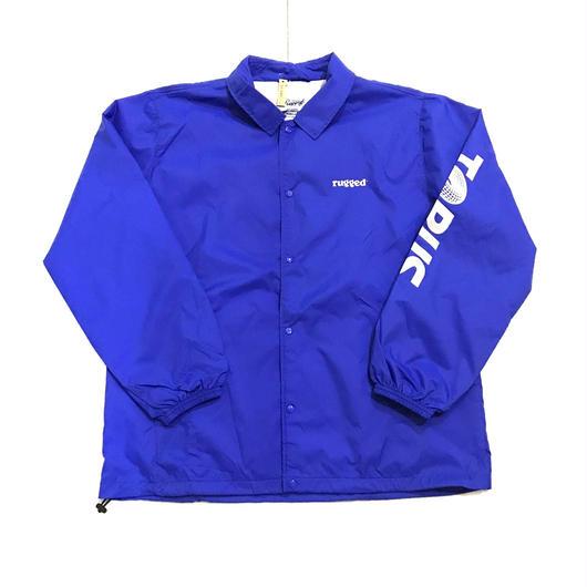RUGGED TORUS coach jacket ブルー L
