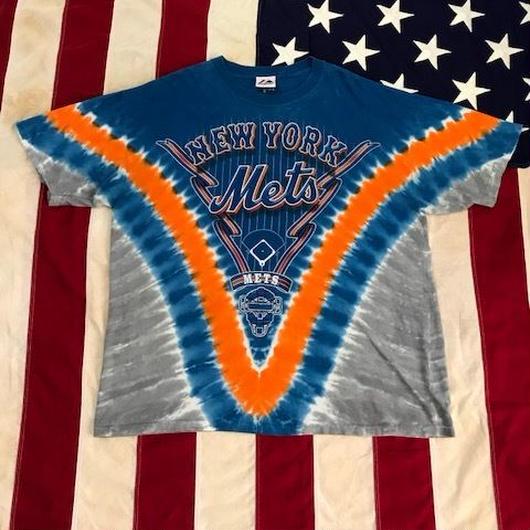 【USED】MLB NY METS tee タイダイ XL
