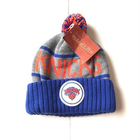 michell&ness KNICKS CUFFED knit cap ブルー