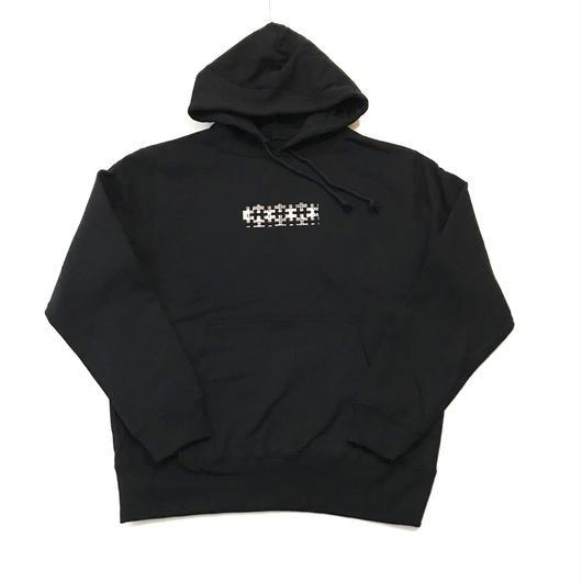 PUZZLE×RUGGED BOX TYPE B 10 oz sweat hoodie ブラック