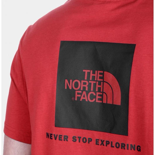 THE NORTH FACE RED BOX tee レッド×ブラック