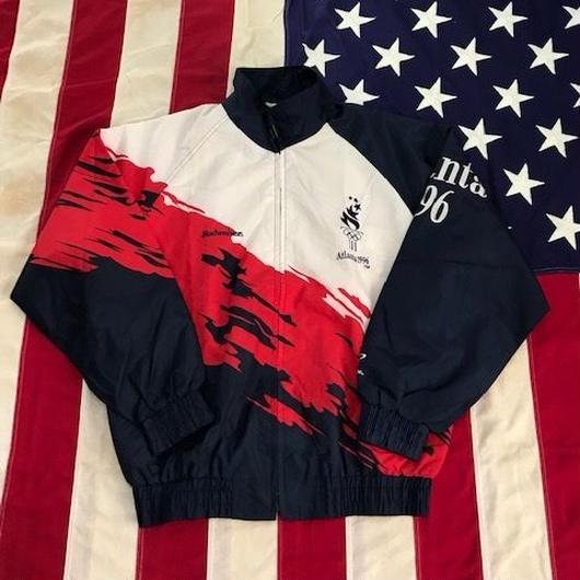 【USED】96 Atlanta Olympic nylon jacket ネイビー×ホワイト×レッド M