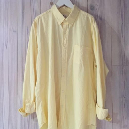 【SALE】J.CREW SUNWASHED OXFORD shirt イエロー