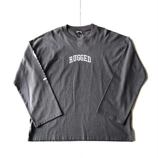 RUGGED on Champion ARCH LOGO sleeve logo L/S tee ダークグレー
