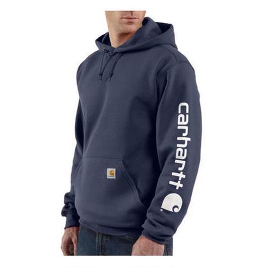 Carhartt Midweight Hooded Logo ネイビー XL
