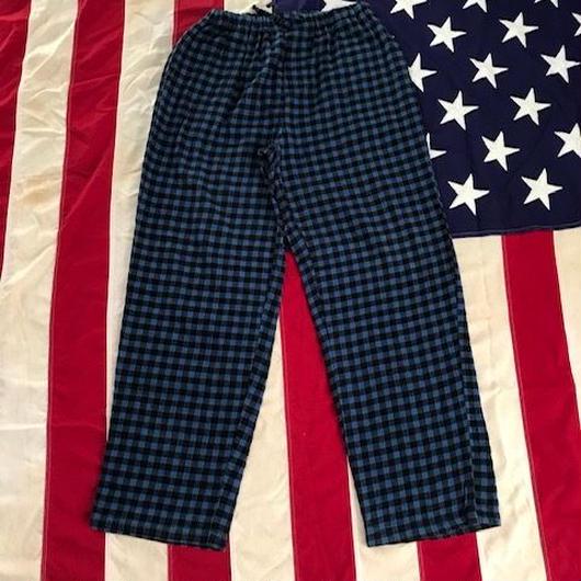 【USED】NO BRAND pajama pants ブルーチェック M