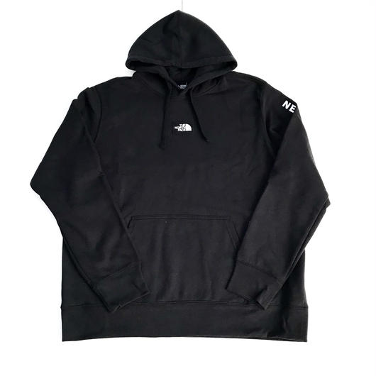 THE NORTH FACE PATCHES hoodie ブラック×ホワイト XL