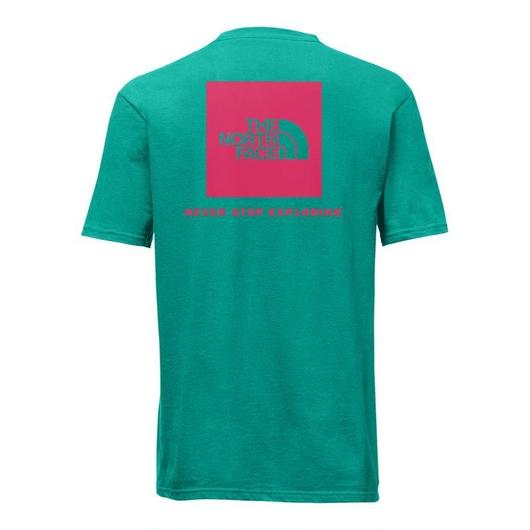 THE NORTH FACE RED BOX tee エメラルド×ピンク