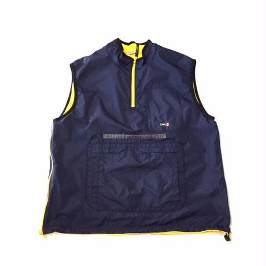 【USED】TOMMY HIFIGER Reversible vest ネイビー×イエロー XXL