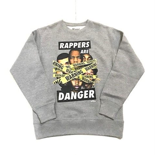RUGGED RAPPERS ARE DANGER super heavy weight sweat グレー L