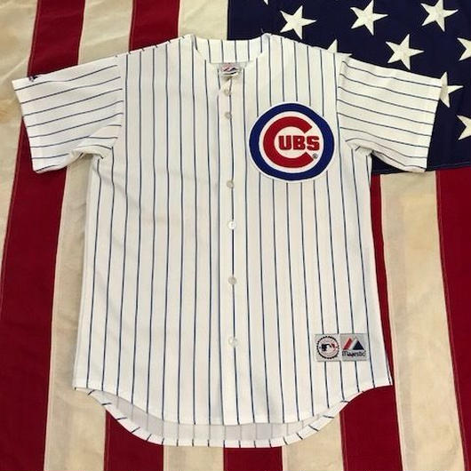 【USED】Majestic CUBS baseball shirt ホワイト