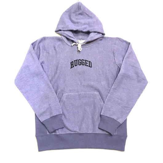 RUGGED on Champion SMALL ARCH reverse weave sweat hoodie グレーパープル