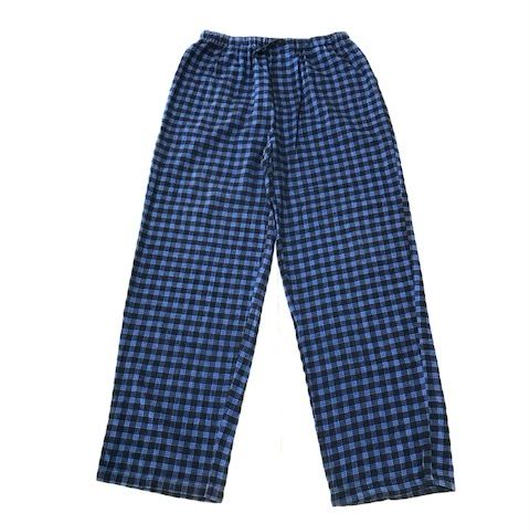 【USED】NO BRAND pajama pants ブルーチェック M