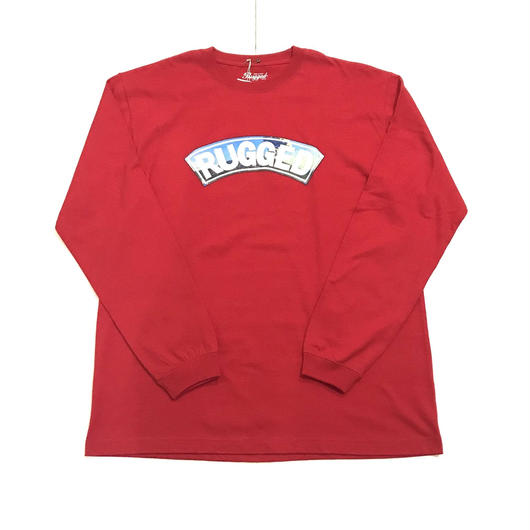 RUGGED 桜島ARCH L/S tee レッド XL