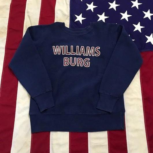 【USED】Champion WILLIAMS BURG sweat ネイビー L