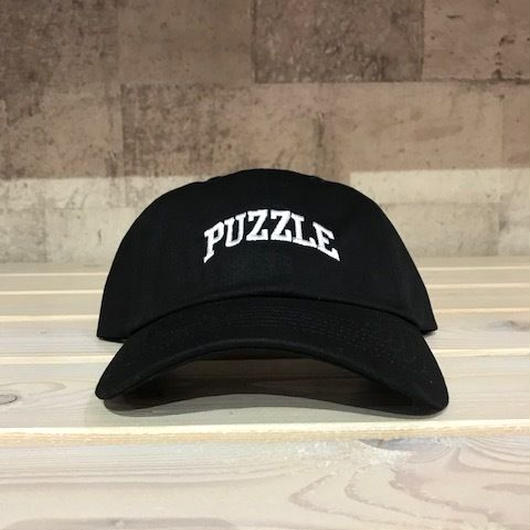 PUZZLE SMALL ARCH adjuster cap ブラック×ホワイト