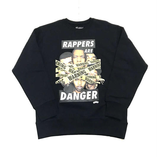 RUGGED RAPPERS ARE DANGER super heavy weight sweat ブラック L