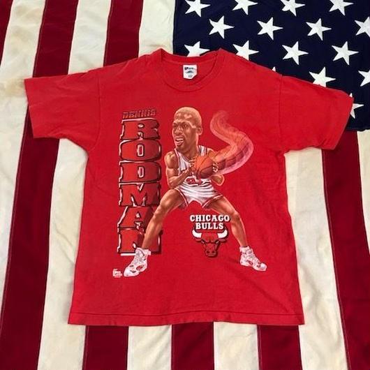【USED】90s NBA D.RODMAN tee レッド L