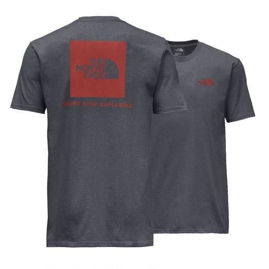 THE NORTH FACE RED BOX tee グレー×レッド