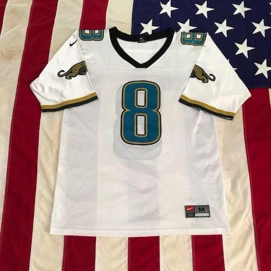 【USED】NFL  JACKSONVILLE JAGUARS BRUNELL 8 jersey ホワイト M
