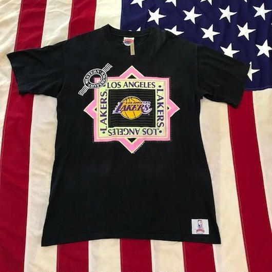 【USED】80s NBA LA LAKERS 1989 tee ブラック XL