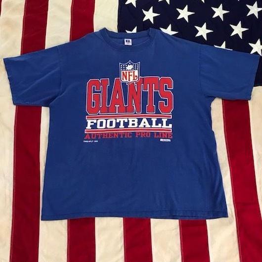 【USED】NFL NY GIANTS tee ブルー XXL