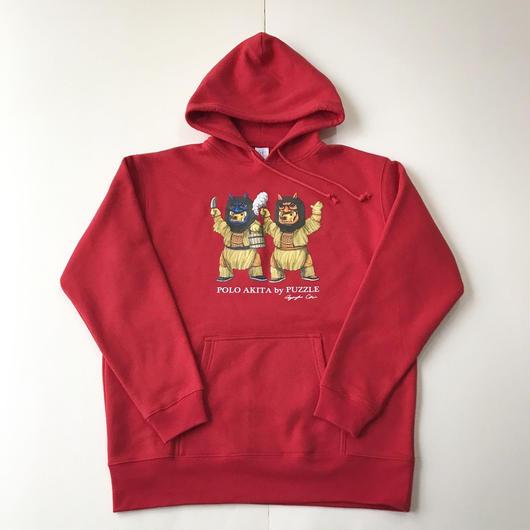 【ラス1】PUZZLE POLO AKITA sweat hoodie レッド XL