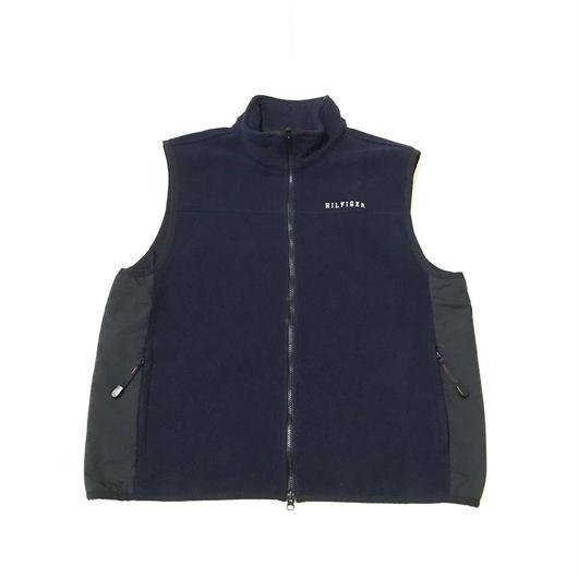 【USED】TOMMY HILFIGER FLEECE vest ネイビー L