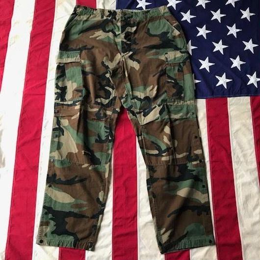 【USED】MILITARY CUSTOM cargo pants ウッドランド L