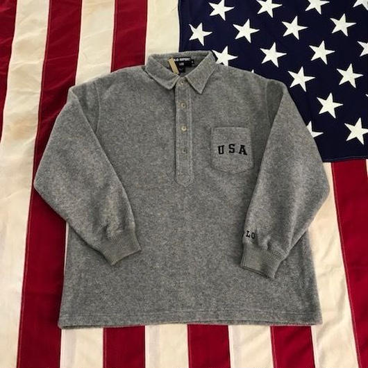 【USED】POLO SPORT USA pullover fleece チャコール L