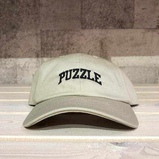 【ラス1】PUZZLE SMALL ARCH adjuster cap ベージュ×ブラック