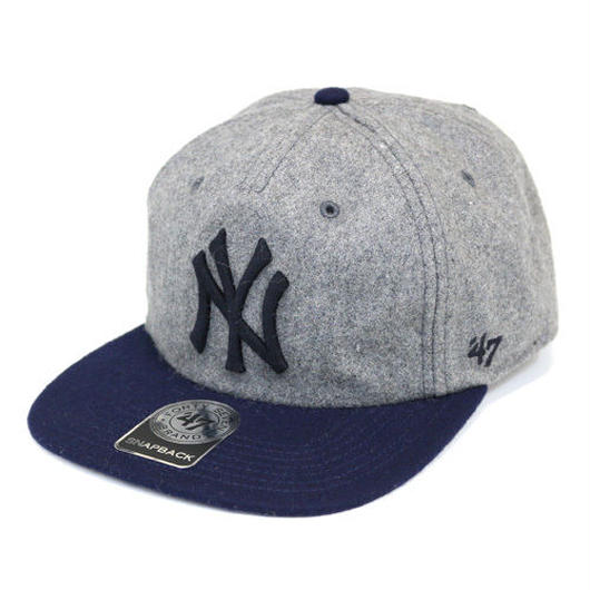 47 Brand NY YANKEES HEMPSTEAD 47 CAPTAIN snap back グレー×ネイビー