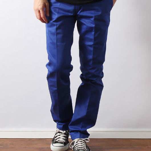 Dickies FLAT FRONT work pants ブライトブルー 32