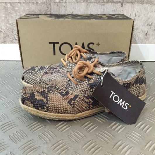 【SALE】TOMS+ CORDONES serpetine leather 9.5