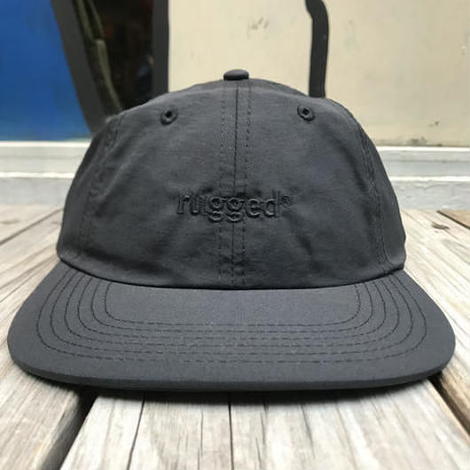 RUGGED rugged® nylon shallow cap ブラック×ブラック