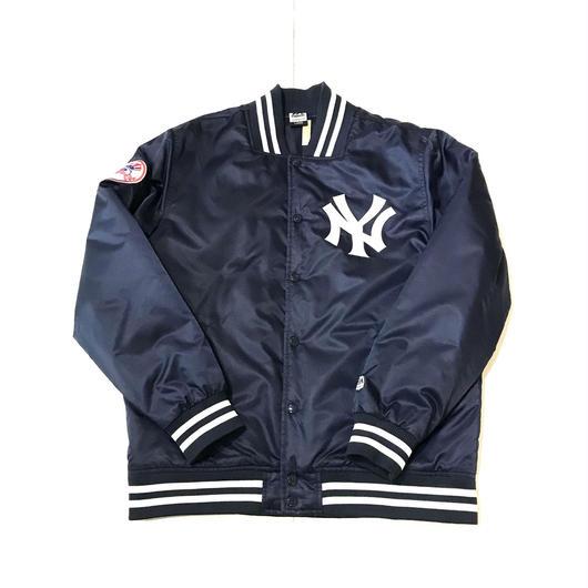 【USED】Majestic NY YANKEES nylon studium jacket ネイビー L