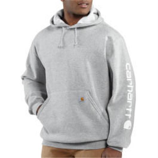 Carhartt Midweight Hooded Logo グレー XL