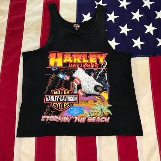 【USED】HARLEY-DAVIDSON tank top ブラック XL
