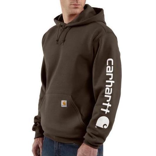 Carhartt Midweight Hooded Logo ブラウン