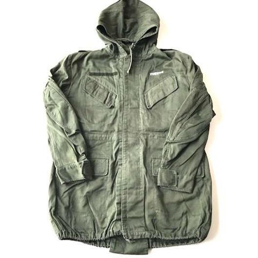 RUGGED on vintage STENCIL ARCH military field jacket オリーブ XL